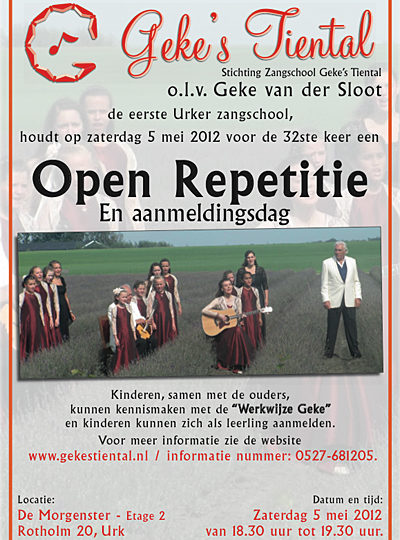 Open repetitie 5 mei